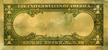 Dólar de Grunge foto de stock