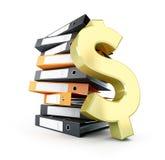 Dólar de la carpeta Imágenes de archivo libres de regalías