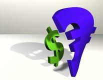 Dólar de la economía de la potencia - euro Imagen de archivo