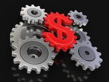 Dólar de la rueda dentada (trayectoria de recortes incluida) Imagen de archivo libre de regalías