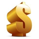 Dólar de oro Imágenes de archivo libres de regalías