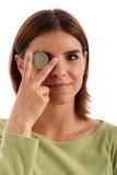 Dólar de prata Imagem de Stock Royalty Free