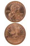 Dólar de Sacagawea imagens de stock