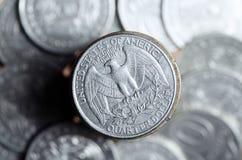 Dólar de um quarto Fotos de Stock