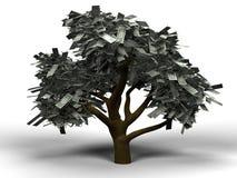 Dólar del árbol del dinero Fotografía de archivo