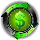 Dólar del botón ilustración del vector
