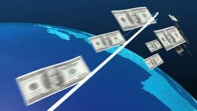 Dólar del mundo que se mueve a los E.E.U.U., América ilustración del vector