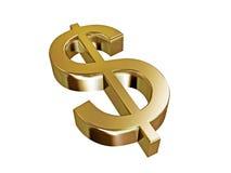 Dólar del oro Imagen de archivo libre de regalías