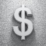 Dólar del pixel Imagen de archivo libre de regalías