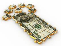 Dólar del rompecabezas Imágenes de archivo libres de regalías