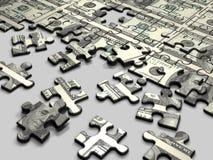 Dólar del rompecabezas Fotografía de archivo libre de regalías