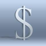 Dólar, $, dinero en circulación, icono Imagen de archivo
