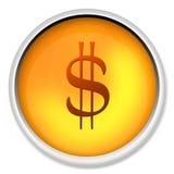 Dólar, $, dinero en circulación, icono, dólar, dinero ilustración del vector