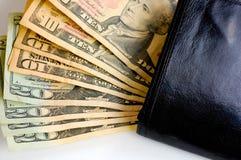 Dólar dinero en la carpeta Imagen de archivo libre de regalías