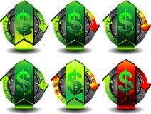 Dólar do botão Fotos de Stock Royalty Free