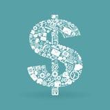 Dólar do negócio Fotografia de Stock Royalty Free