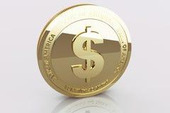 Dólar do ouro Imagem de Stock