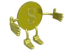 Dólar do ouro. Foto de Stock