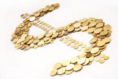 Dólar do ouro fotos de stock royalty free