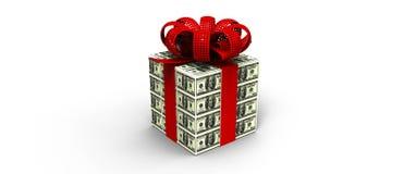 Dólar do presente do dinheiro Fotografia de Stock Royalty Free