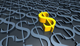 Dólar dourado Imagem de Stock