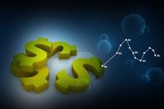 Dólar dourado Imagem de Stock Royalty Free