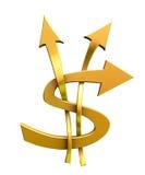 Dólar dourado Fotos de Stock Royalty Free