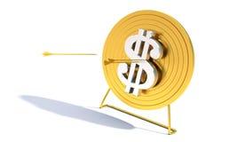 Dólar dourado do alvo do tiro ao arco Foto de Stock Royalty Free