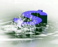 Dólar e gotas Fotografia de Stock