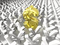 Dólar e ienes Fotografia de Stock