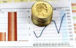 Dólar em uma elevação Fotografia de Stock