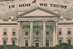 Dólar en dios que confiamos en Imagen de archivo libre de regalías