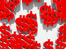 Dólar en un fondo blanco Foto de archivo libre de regalías