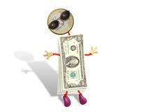Dólar engraçado imagem de stock royalty free