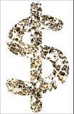 Dólar erosionado Imagen de archivo