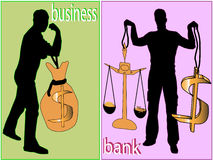 Dólar, força e negócio Ilustração Stock
