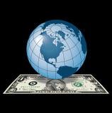Dólar global ilustração royalty free