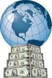 Dólar global ilustração do vetor