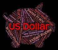 Dólar intercambio Rate And Banknote de las demostraciones ilustración del vector