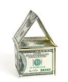 Dólar - la casa Imagen de archivo libre de regalías