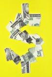 Dólar lacerado Imagens de Stock