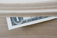 Dólar mantenido libro. Fotografía de archivo