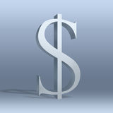 Dólar, $, moeda, ícone ilustração do vetor