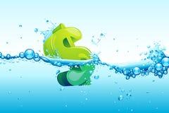 Dólar na água Imagem de Stock