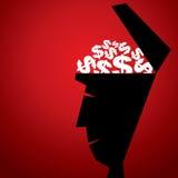 Dólar na cabeça aberta Imagem de Stock