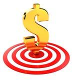 Dólar no alvo Fotografia de Stock Royalty Free