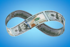 Dólar NOVO infinito Fotografia de Stock Royalty Free