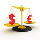 Dólar o euro Fotos de archivo