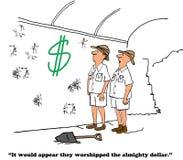 Dólar onipotente da adoração ilustração royalty free