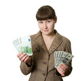 Dólar ou euro Fotos de Stock Royalty Free
